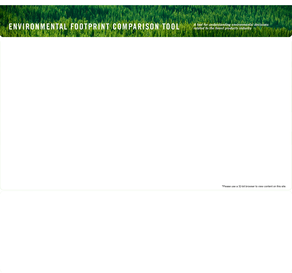 EFCT: Environmental Footprint Comparison Tool.  A tool for understanding environmental decisions related to the forest products industry.