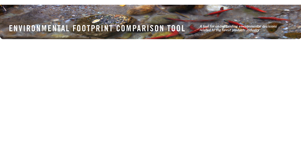 EFCT: Environmental Footprint Comparison Tool.  A tool for understanding environmental decisions related to the forest products industry.  BOD/COD/TSS.