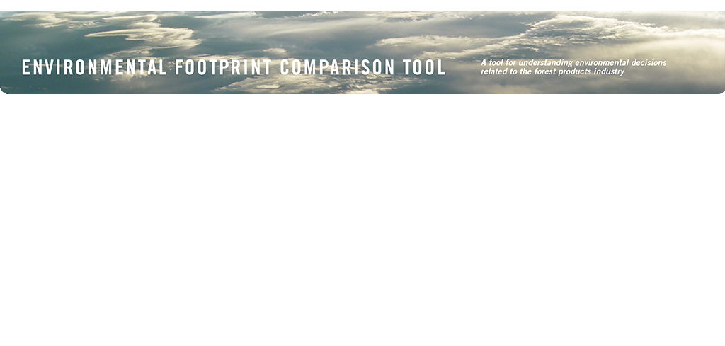 EFCT: Environmental Footprint Comparison Tool.  A tool for understanding environmental decisions related to the forest products industry.  GHGs (Greenhouse Gas Emissions).